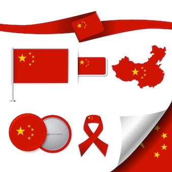 Coleção de elementos representativos da china
