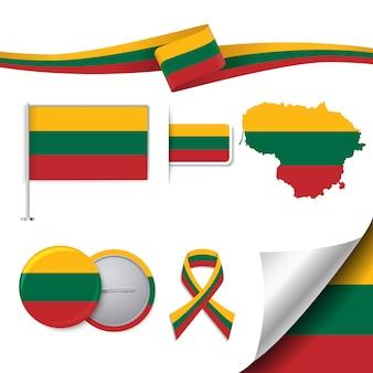 Coleção de elementos representativos da lituânia