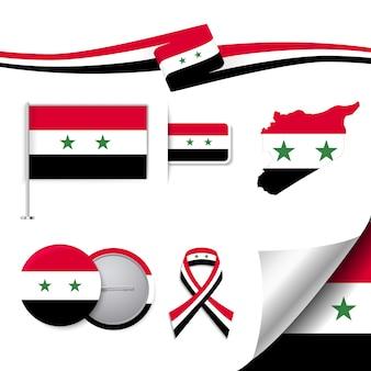 Coleção de elementos representativos da síria