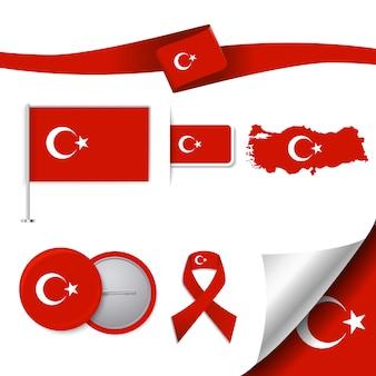 Coleção de elementos representativos da turquia