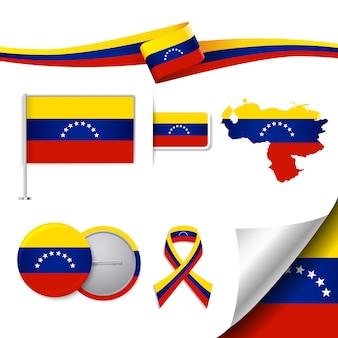 Coleção de elementos representativos da venezuela