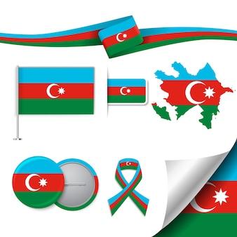 Coleção de elementos representativos do azerbaijão