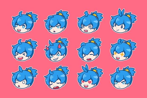 Coleção de emblemas de anime para twitch