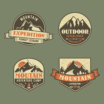 Coleção de emblemas de aventura