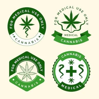 Coleção de emblemas de cannabis medicinal