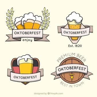 Coleção de emblemas de cerveja alemã