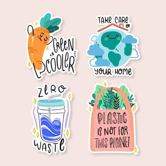 Coleção de emblemas de ecologia