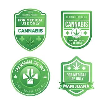 Coleção de emblemas de maconha medicinal