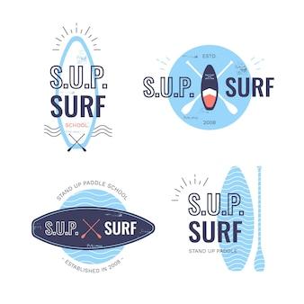 Coleção de emblemas de sup plano