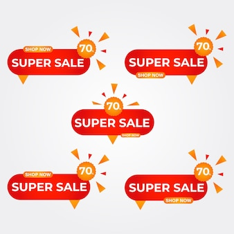 Coleção de emblemas de super venda emblemas de promoção