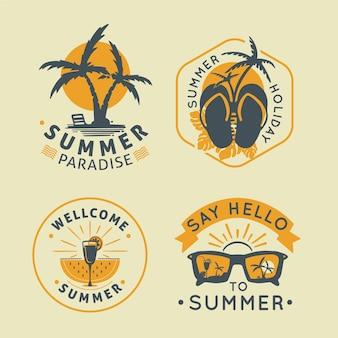 Coleção de emblemas de verão