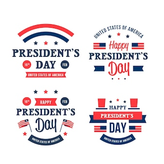 Coleção de emblemas do dia do presidente