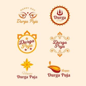Coleção de emblemas do durga puja