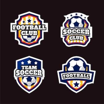 Coleção de emblemas do logotipo do futebol