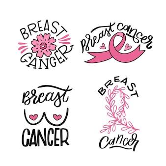 Coleção de emblemas do mês de conscientização do câncer de mama