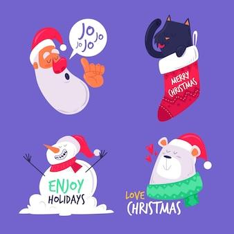 Coleção de emblemas do natal