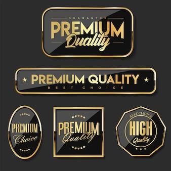Coleção de emblemas e modelos de etiquetas de qualidade premium