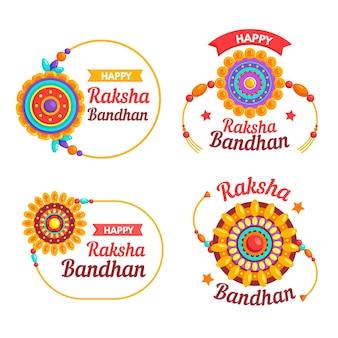 Coleção de emblemas raksha bandhan