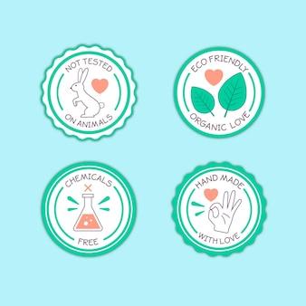 Coleção de emblemas sem crueldade