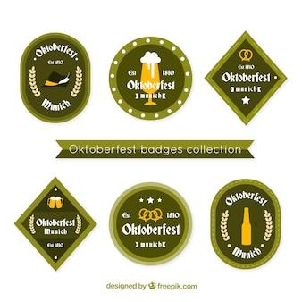 Coleção de emblemas tradicionais mais oktoberfest