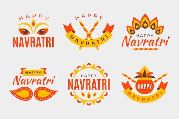Coleção de emblemas tradicionais navratri