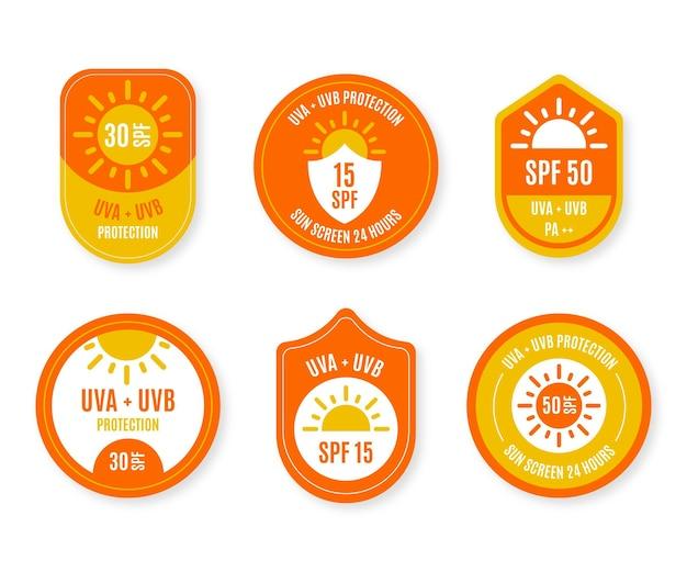 Coleção de emblemas ultravioleta criativos