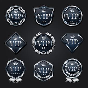 Coleção de emblemas vip prata platina