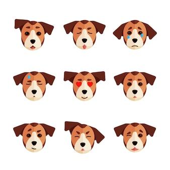 Coleção de emoji de cachorro