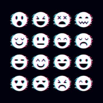 Coleção de emojis de falhas