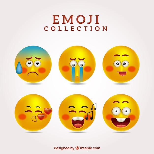 Coleção de emoticons engraçados