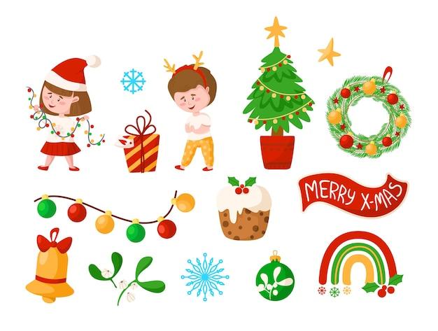 Coleção de enfeites e decoração de natal