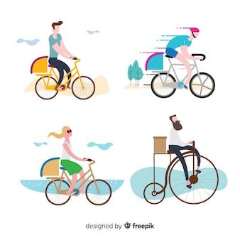 Coleção de entrega de bicicleta