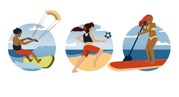 Coleção de esportes de verão