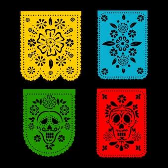 Coleção de estamenha com estilo mexicano