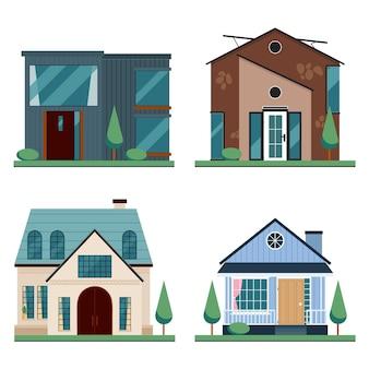 Coleção de estilo de arquitetura de casa