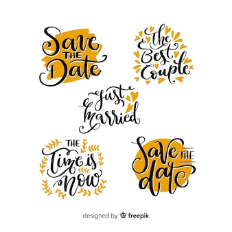 Coleção de estilo de letras para evento