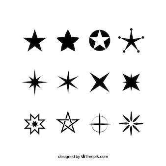 Coleção de estrela de diferentes tipos