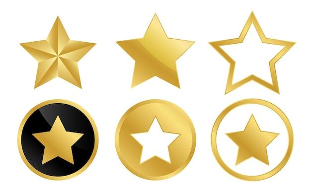 Coleção de estrela de ouro emblema de estrela de ouro