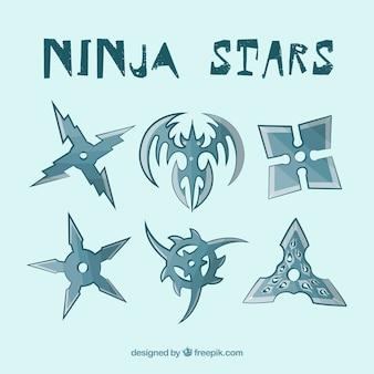 Coleção de estrelas ninja