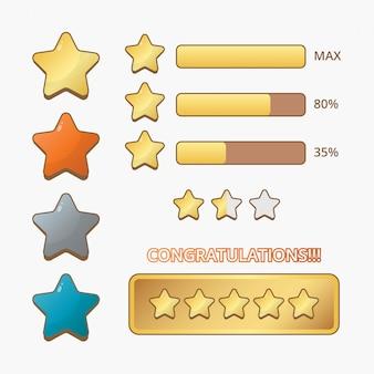 Coleção de estrelas para jogo