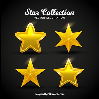 Coleção de estrelas planas