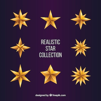 Coleção de estrelas realistas