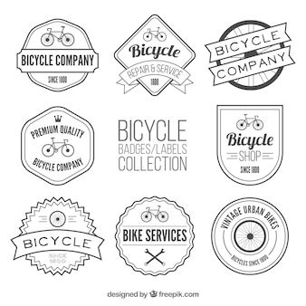 Coleção de etiqueta de bicicletas no estilo do vintage
