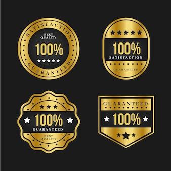Coleção de etiqueta de luxo ouro 100% garantida