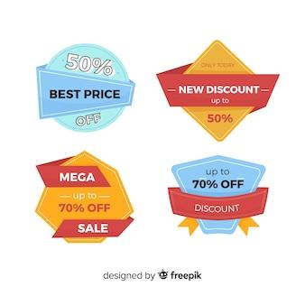 Coleção de etiqueta de venda design plano
