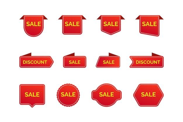 Coleção de etiqueta de vendas