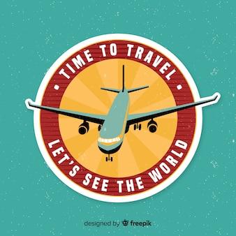 Coleção de etiqueta de viagens design plano