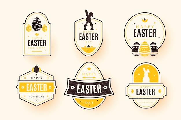 Coleção de etiqueta / distintivo de dia de páscoa