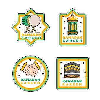 Coleção de etiqueta plana ramadan