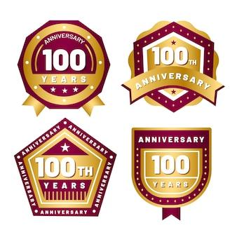 Coleção de etiquetas de 100 anos